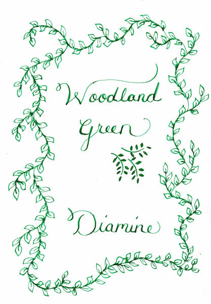 Diamine Woodland Green Ink drawing