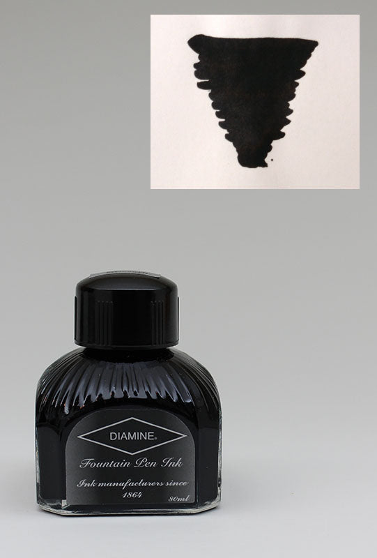 Diamine Jet Black Ink - 80ml Bottle