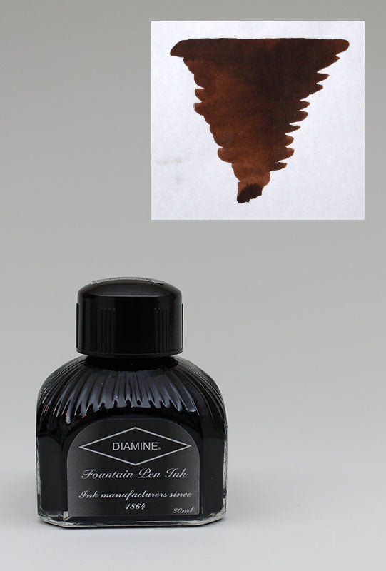 Diamine Chocolate Brown Ink - 80ml Bottle