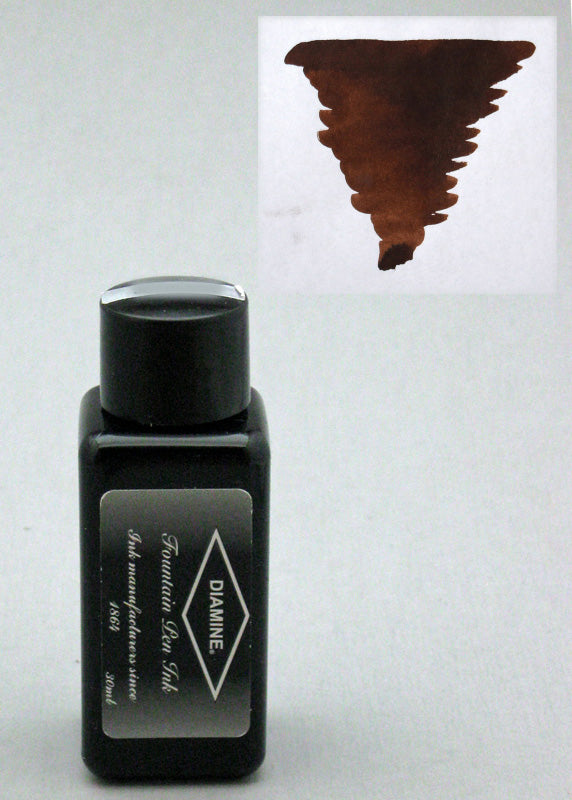 Diamine Chocolate Brown Ink - 30ml Bottle