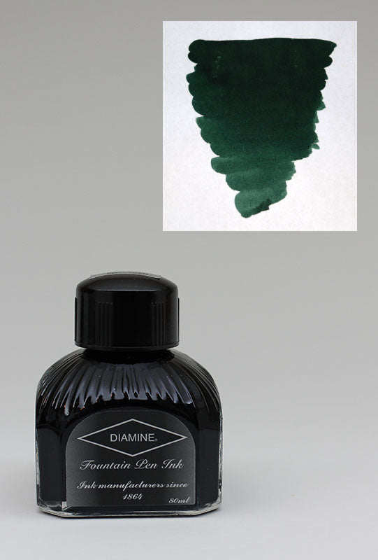 Diamine Green/Black Ink - 80ml Bottle