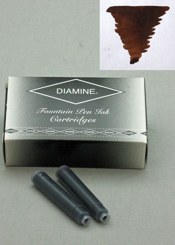 Diamine Chocolate Brown Ink - Cartridges