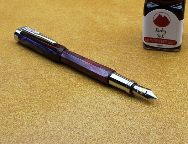 Conklin Nozac Fountain Pen - Toledo Red - Medium