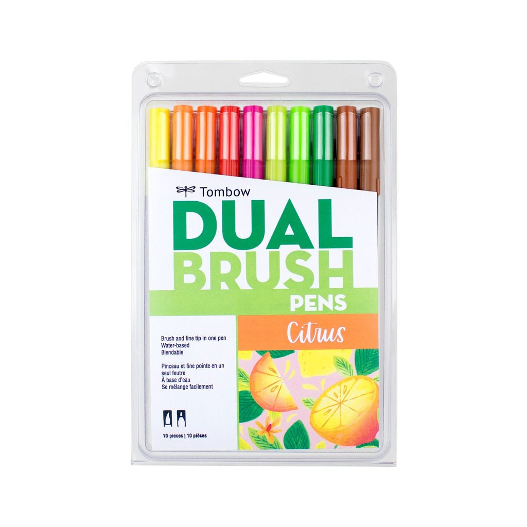 Tombow Limited Edition Dual Brush Pen Set, Citrus - 10 Pack