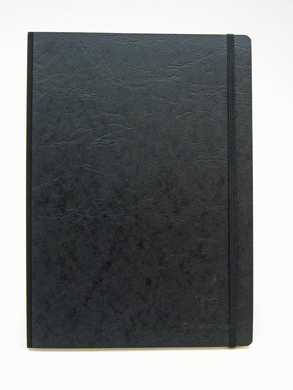 Clairefontaine Basic Notebooks Side Clothbound 8 ¼ x 11 ¾ - Black Cover