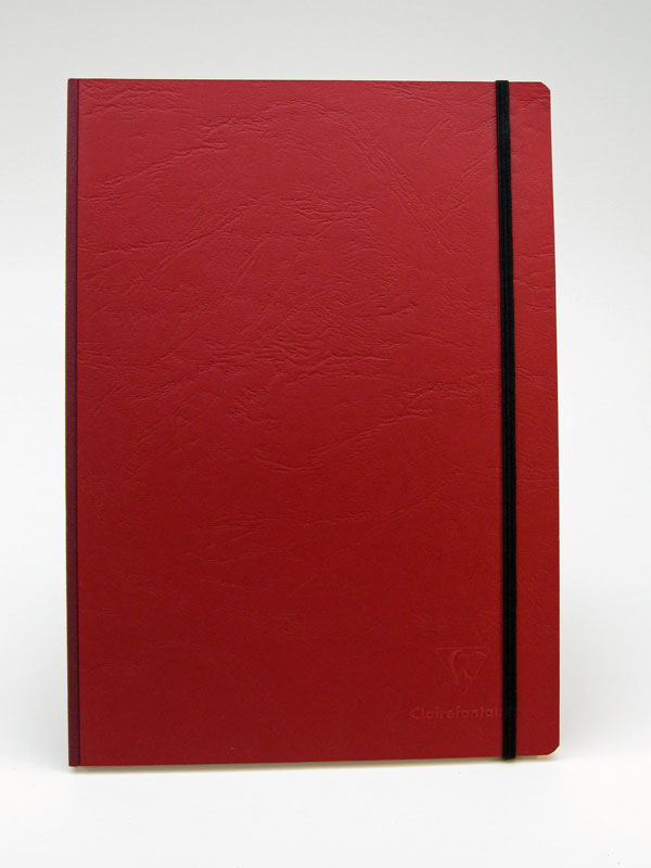 Clairefontaine Basic Notebooks Side Clothbound 8 ¼ x 11 ¾ - Red Cover