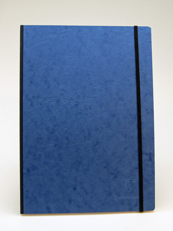 Clairefontaine Basic Notebooks Side Clothbound 8 ¼ x 11 ¾ - Blue Cover