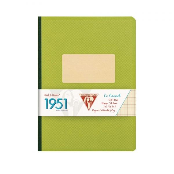 Clairefontaine 1951 Clothbound Notebook - Green