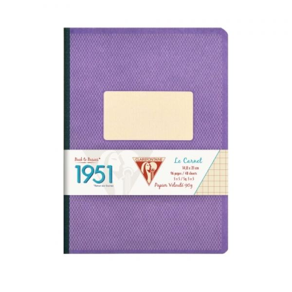 Clairefontaine 1951 Clothbound Notebook - Violet