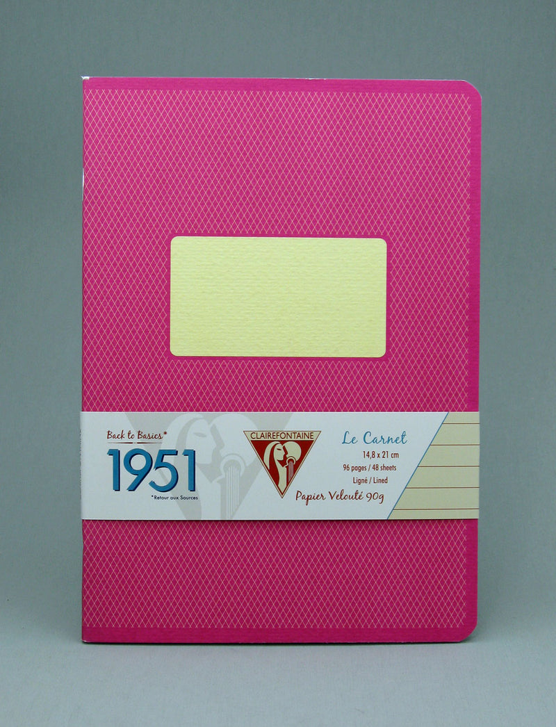 Clairefontaine 1951 Staplebound Notebook - Raspberry