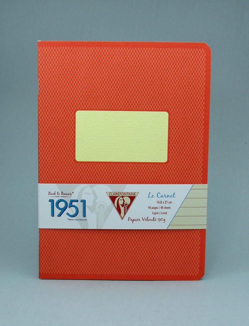 Clairefontaine 1951 Staplebound Notebook - Red Coral