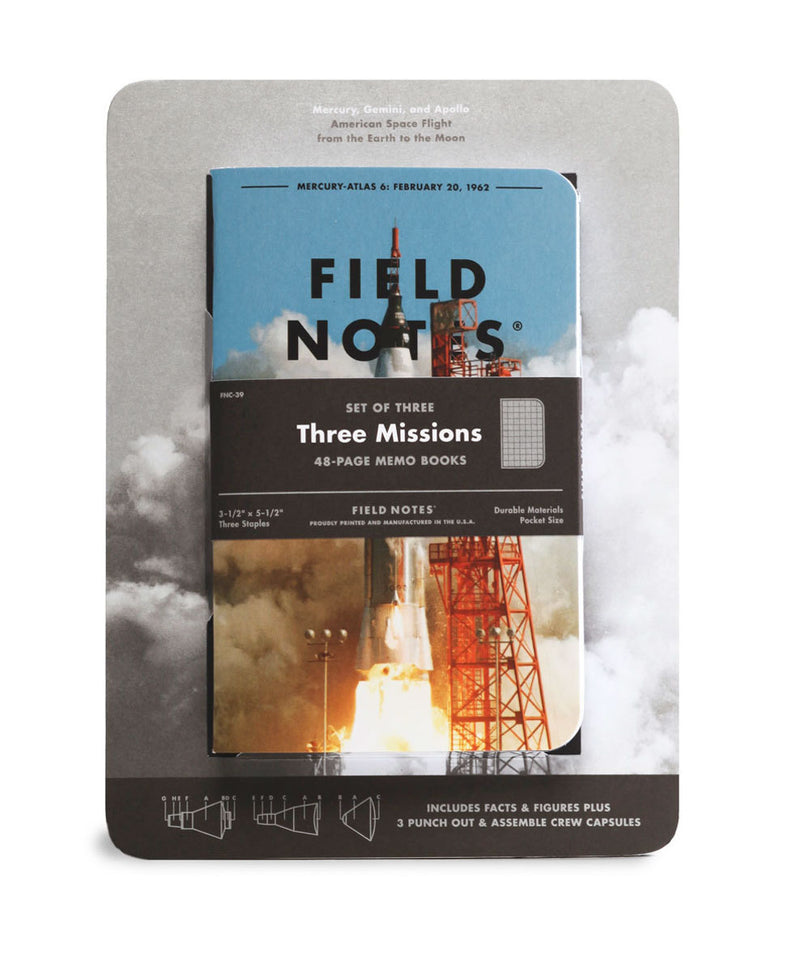 Field Notes Notebook - 3 Missions - Graph (3-Pack)