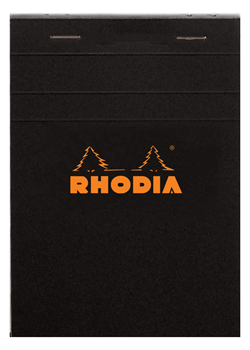 Rhodia No. 16 6x8-1/4 Black Lined