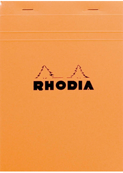 Rhodia No. 16 6x8-1/4 Orange Lined