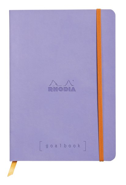 Rhodia A5 Goal Book, Iris, Dot Grid 120 Sheets - 5 ½ x 8 ¼