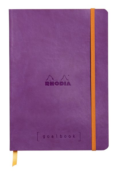 Rhodia A5 Goal Book, Purple, Dot Grid 120 Sheets - 5 ½ x 8 ¼