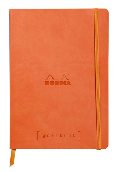 Rhodia A5 Goal Book, Tangarine, Dot Grid 120 Sheets - 5 ½ x 8 ¼