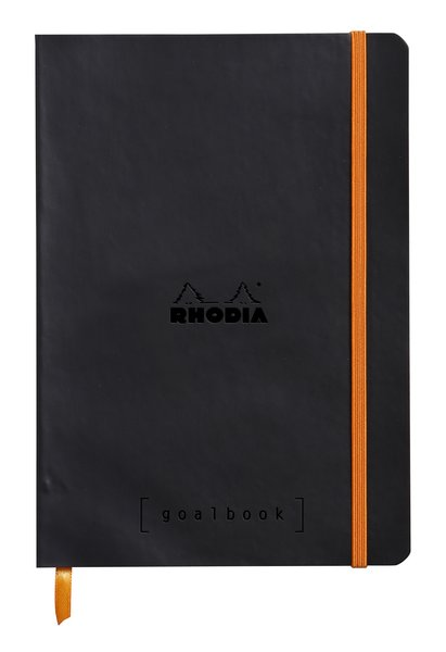 Rhodia A5 Goal Book, Black, Dot Grid 120 Sheets - 5 ½ x 8 ¼