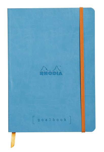 Rhodia A5 Goal Book, Turquoise, Dot Grid 120 Sheets - 5 ½ x 8 ¼