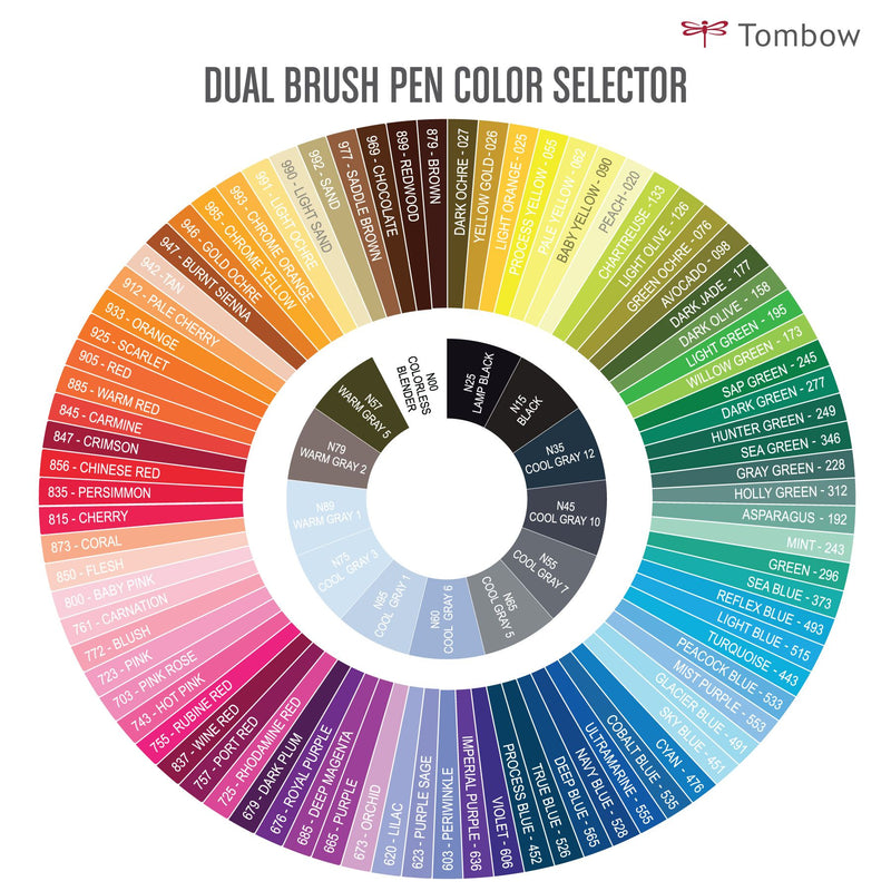 Tombow Color Chart