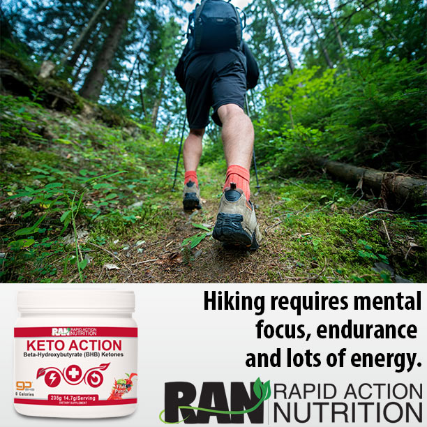 Hiking requires mental focus, endurance & energy!