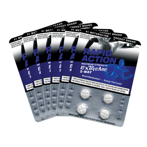 Rapid Action EXTREME 2-Way Energy Pills Maximum Strength - Fat Burning Supplement (24 Tabs) Boost Metabolism
