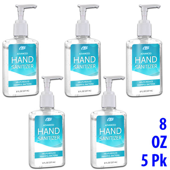 CB Advanced Hand Sanitizer 8 oz. Bottles BULK 5 Pack