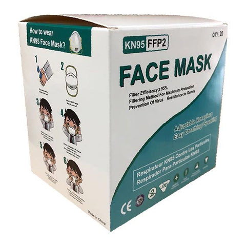 KN95 Adjustable Face Mask - 20 Ct Box