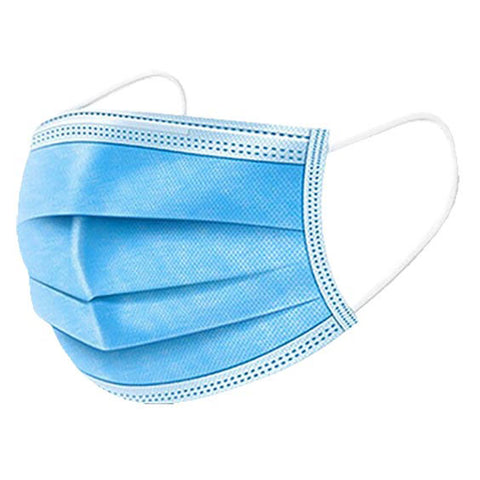 Disposable 3-Ply Medical Face Masks - 10 Ct