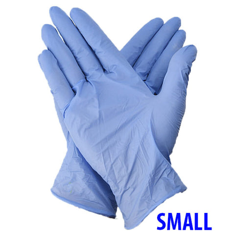 Nitrile Powder-Free Blue Gloves-Small-100 Ct Box