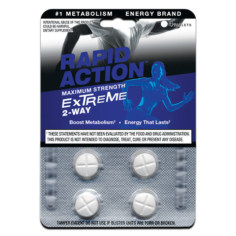 EXTREME Energy Pills - Fat Burning Supplement (4 Tabs)