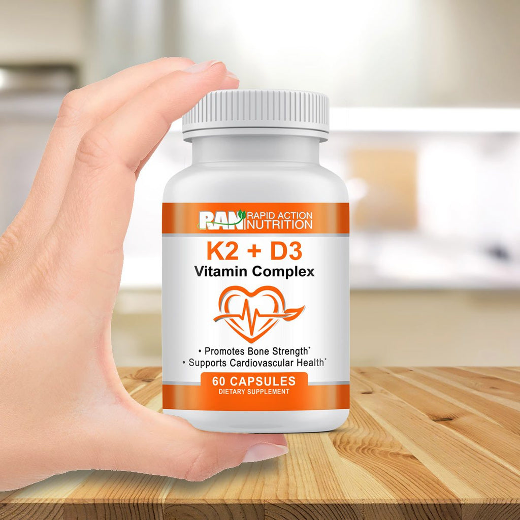 Vitamin K2 & D3 - For Bone Strength & Cardio Health