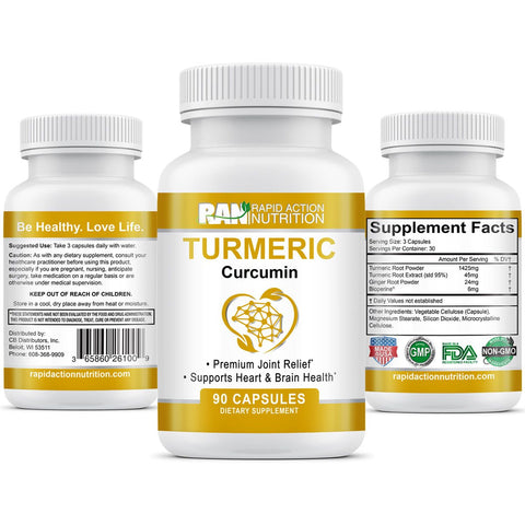 Turmeric Curcumin Deal - Relief of Joint Pain & Inflammation (No Coupons)