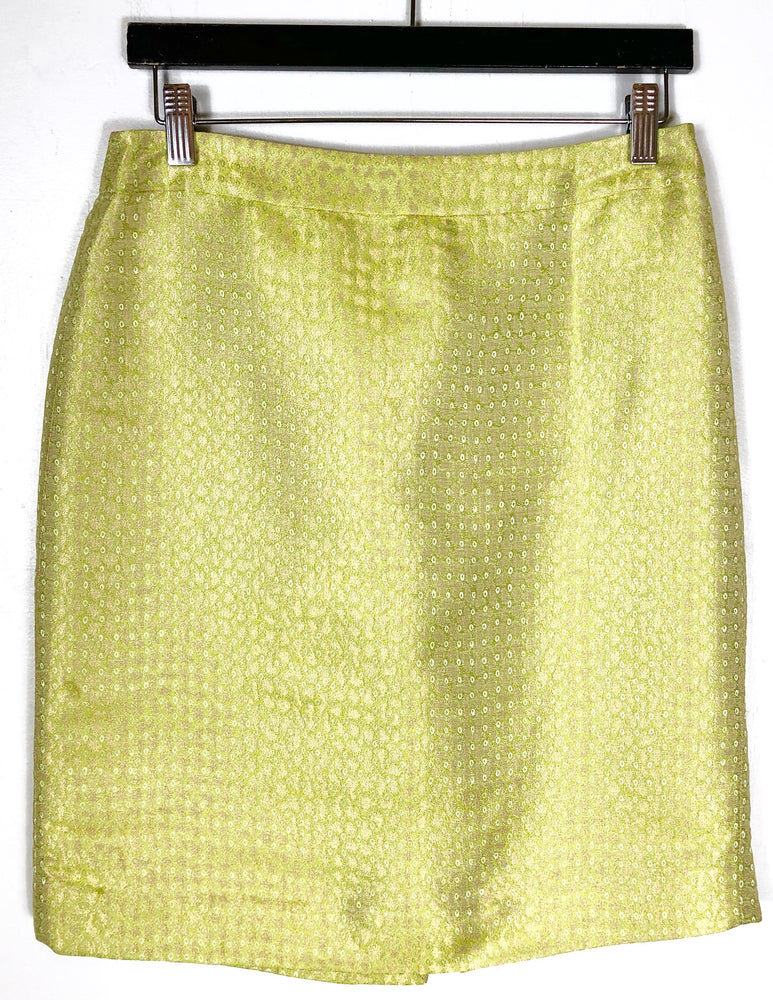 J.Crew Citrine Patterned Silk Pencil Skirt Sz 6/8 (f)