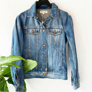Madewell Intentionally Distressed Denim Jacket Sz Small