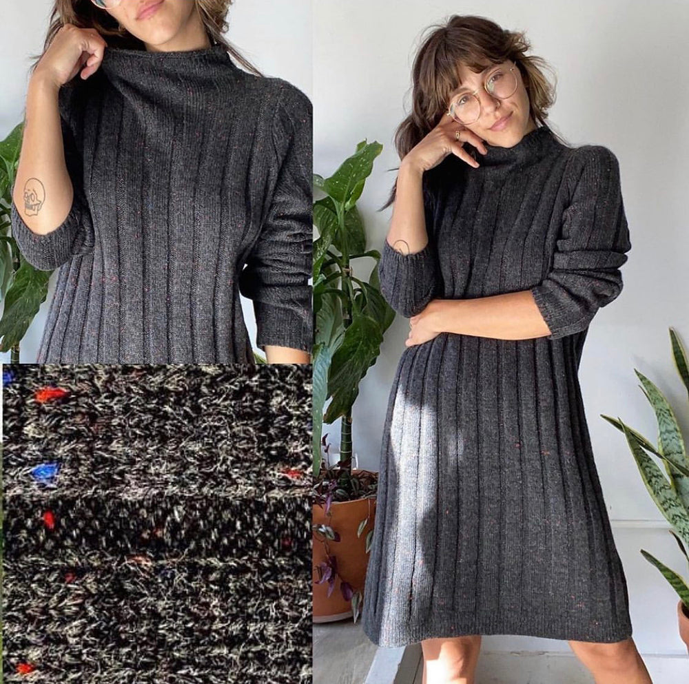 Madewell 'Donegal Rolled Mock-Neck Sweater Dress'