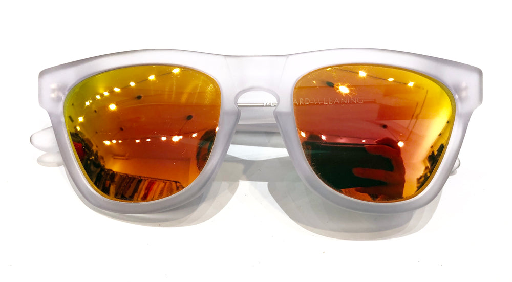Westward Leaning Smoke Frame Orange Mirror Lense Sunglasses (f)