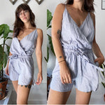 Sen Collection Blue Stripe Romper Sz 2
