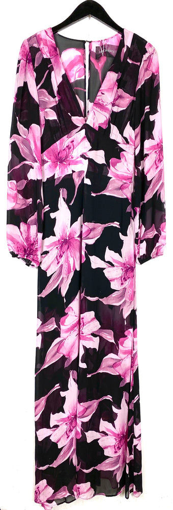 Reformation Pink Lily Long Sleeve Maxi Dress Sz Medium (f)