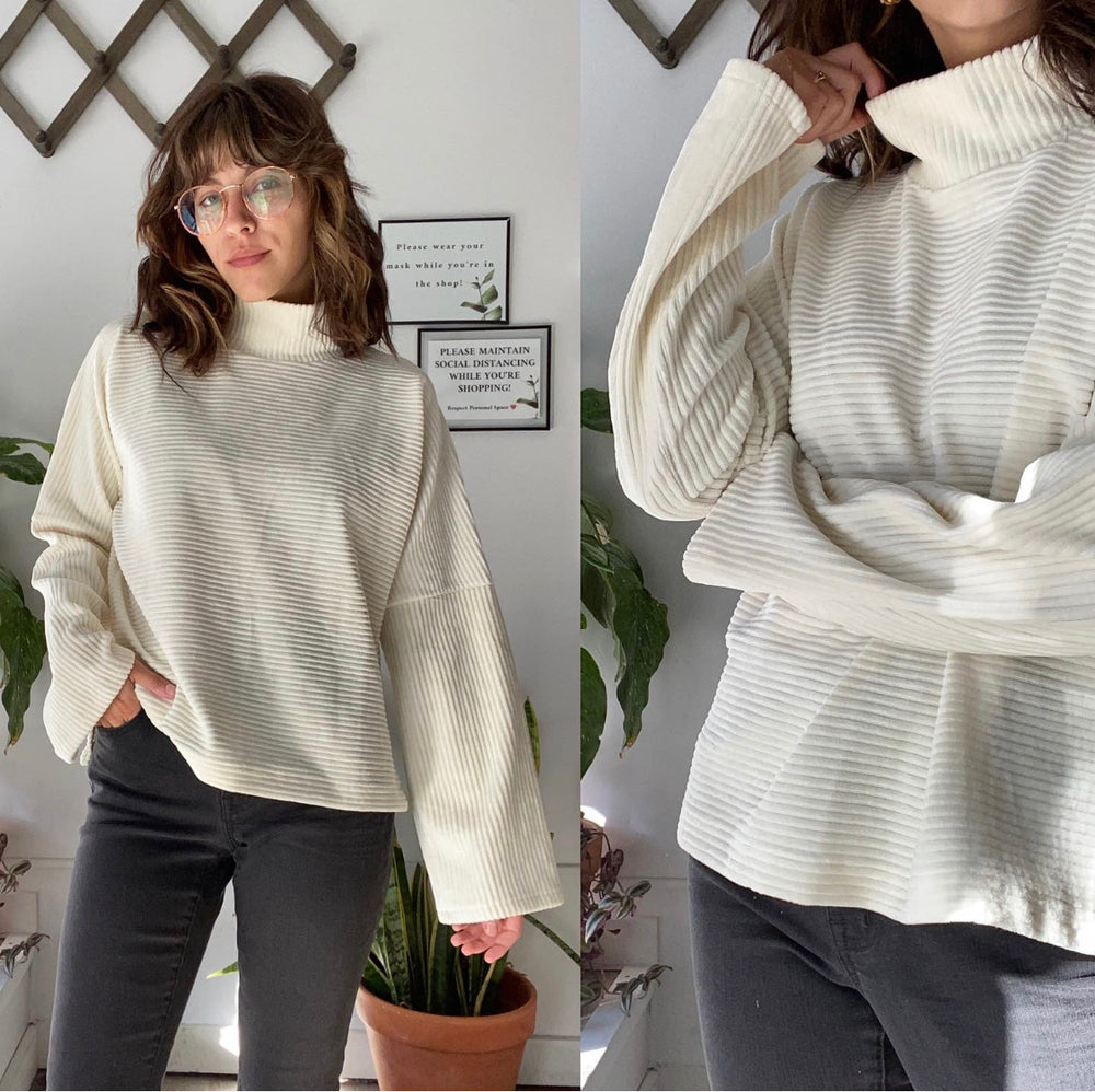 Madewell Corduroy Mock Neck Sweater Sz XS