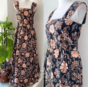 Jill Stuart Pink & Black Floral Dress Sz 2
