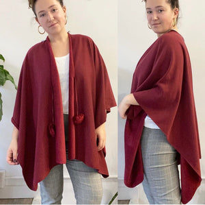 Marc New York Burgundy Cape Shawl