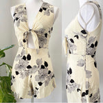Privacy Please Floral Cut Out Romper Sz XS (B)