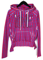 Frank & Eileen Tee Lab Red Blue Super Plaid Love Hoodie Sz XS (f)
