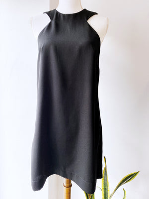 Reformation Black High Neck Sleeveless Mini Dress Sz XS/S F