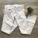 NWT Ralph Lauren Double RRL White Distressed Slim Fit Jeans 28x34