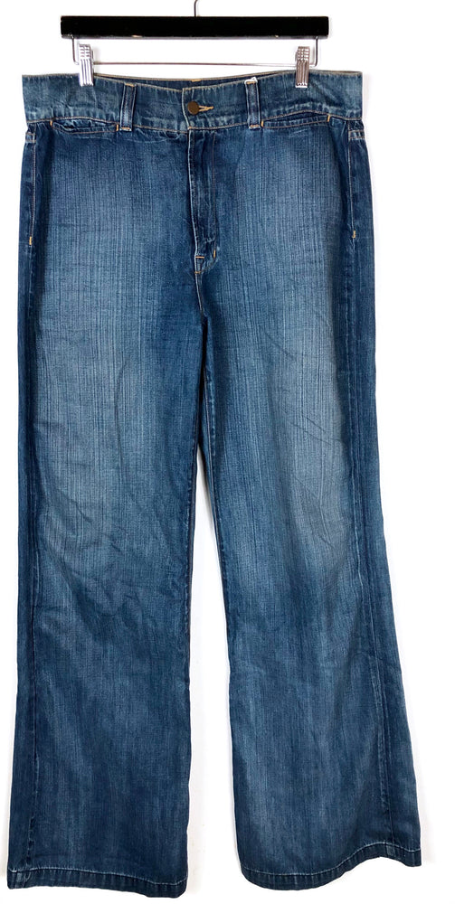 J Brand Wide Leg Denim Jeans Sz 32 (f)