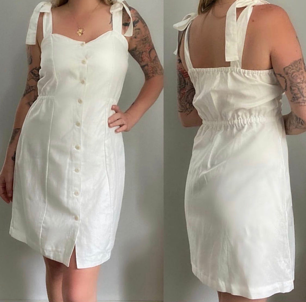 Madewell Tie-Strap Button Front Sundress