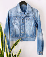 Blank NYC Denim Jacket Sz Small (f)