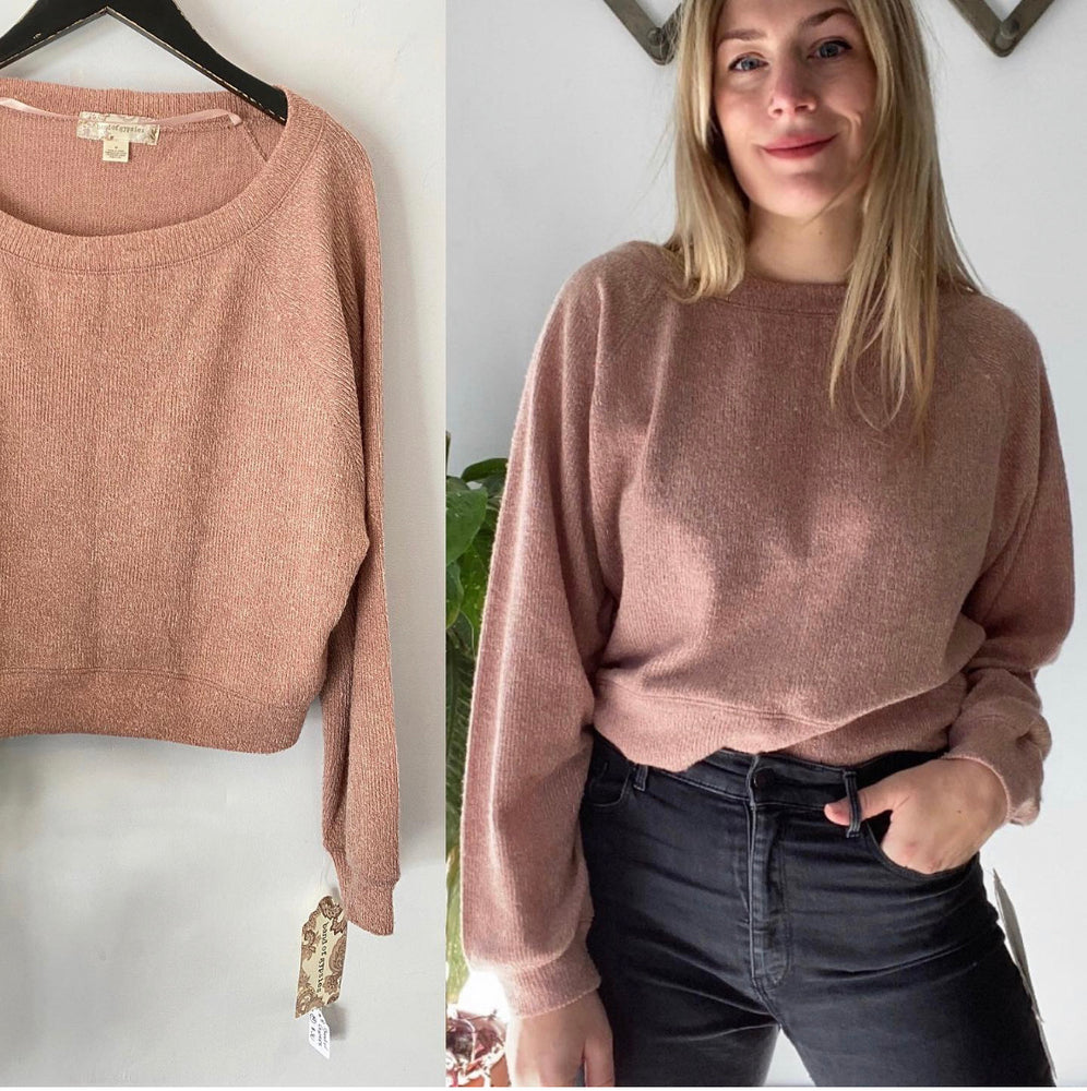 Band of Gypsies Rose Crop Sweater